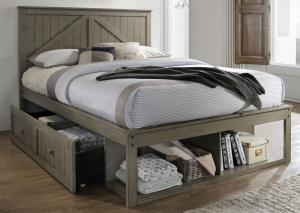 YB24 Gray Full Storage Bed