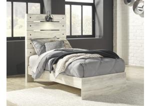 YB25 White Wash Twin Panel Bed