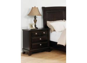 MB170 Espresso Transitional Nightstand