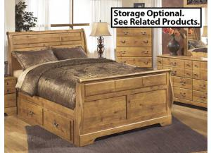 MB9 Light Pine Country Queen Sleigh Bed