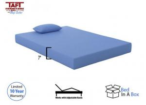 Blue Memory Foam Full Mattress w/ Pillow