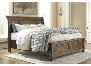 MB153 Burnished Brown Queen Storage Bed