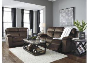 Chocolate Power Reclining Sofa with Adjustable Headrest