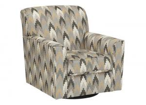 Downtown Charcoal Swivel Accent Chair