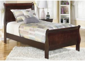 MB13 Louis Brown Cherry Twin Sleigh Bed
