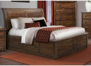 MB41 Rustic King Storage Bed