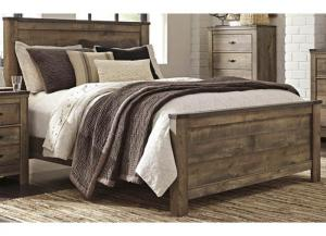 MB60 Vintage Brown King Panel Bed