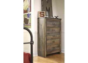 YB13 Vintage Brown 5-Drawer Chest