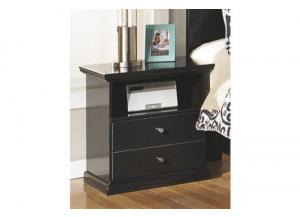 MB4 Cottage Black Nightstand