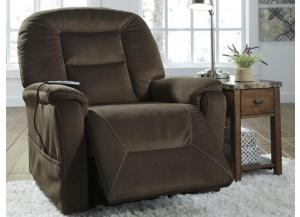 Coffee Power Lift Massaging Heated Recliner