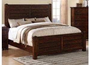 MB41 Rustic King Panel Bed