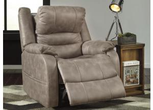 Bar Mushroom Power Recliner with Adjustable Headrest