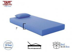 Blue Memory Foam Twin Mattress w/ Pillow