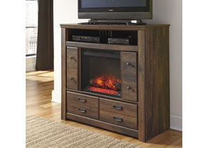 MB16 Rustic Cottage Media Chest  with LED Fireplace
