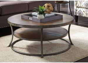 Urban Light Brown Round Cocktail Table