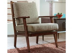 Mid-Century Jute Accent Chair