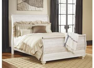 MB107 2-Tone Whitewash Queen Sleigh Bed