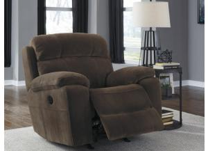 Chocolate Power Recliner with Adjustable Headrest