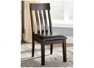DR46 Rustic Charm Dark Side Chairs: Set of 2