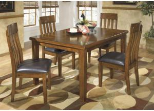 DR23 Rustic Charm Dining Table & 4 Chairs