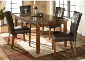 DR13 Medium Brown Contemporary Table & 4 Chairs