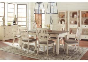 DR111 White & Dark Dining Table & 4 Chairs
