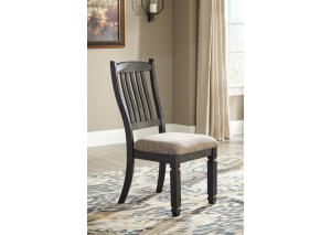 DR134 Two-Toned Upholstered Side Chair: Set of 2