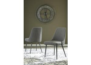 DR136 Light Brown w/ Nail Heads Side Chair: Set of 2