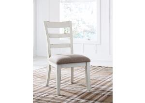 DR152 White & Brown Side Chairs: Set of 2
