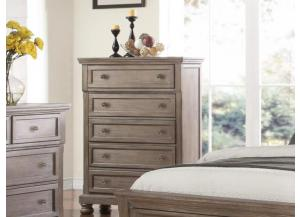 MB74 Pewter Vintage 5-Drawer Chest