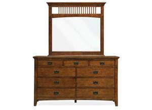 MB35 Mission Oak Dresser & Mirror