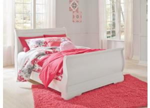 YB18 Traditional White Full Sleigh Bed