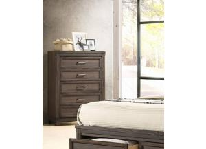 MB171 Coffee 5-Drawer Chest