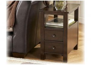 Merlot Finish Chairside End Table