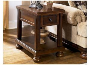 Cherry Finish Chairside End Table