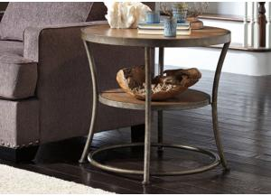 Urban Light Brown Round End Table