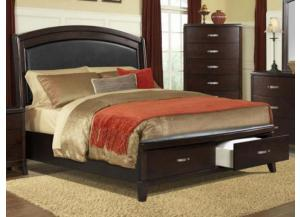 MB43 Casual Bow Queen Upholstered Storage Bed