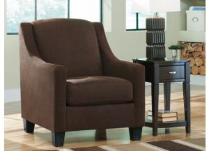 LR71 Walnut Tufted Accent Chair