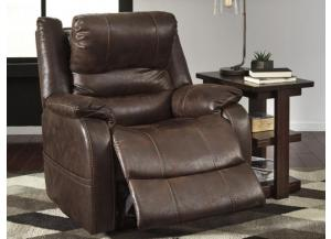 Bar Walnut Power Recliner with Adjustable Headrest