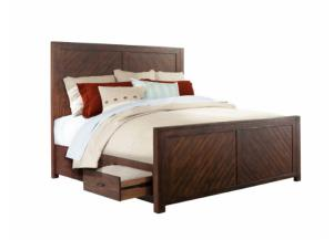 MB128 Rustic Queen Storage Bed