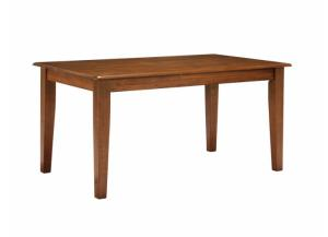 DR5 Rustic Brown Dining Table