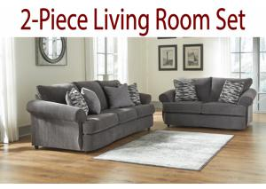 2-Piece Living Room Set: Gleam Ash Sofa and Loveseat