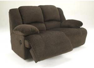 LR12 Chocolate Plush Reclining Loveseat