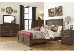MB16 Rustic Cottage King Storage Bed, Dresser, Mirror & Nightstand