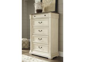 MB172 White & Dark 5-Drawer Chest