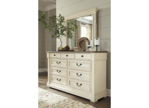MB172 White & Dark Dresser & Mirror