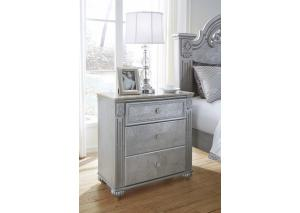 MB184 Champagne & Silver Nightstand