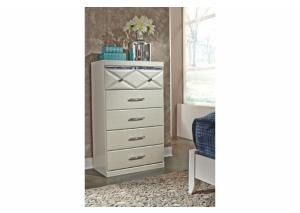 MB77 White Contemporary Chest
