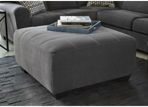 Slate Oversize Accent Ottoman from the Philosophy Collection