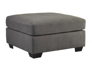 LR71 Charcoal Tufted Accent Ottoman